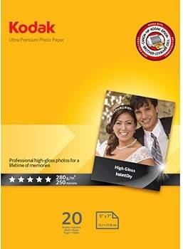 Kodak Papier Photo Ultra Premium 13x18cm 280g 20F Ultra Brillant