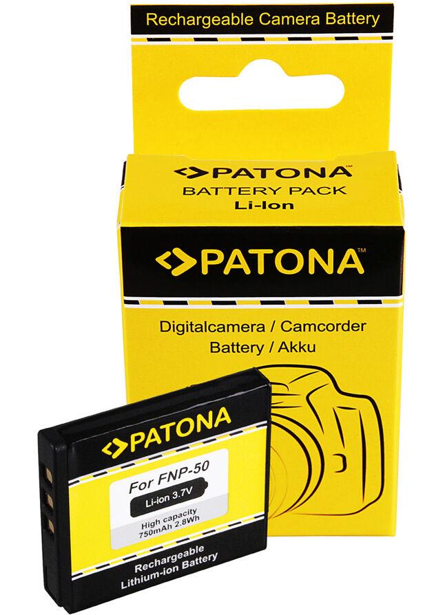 PATONA Batterie Fujifilm NP-50 (750mAh)