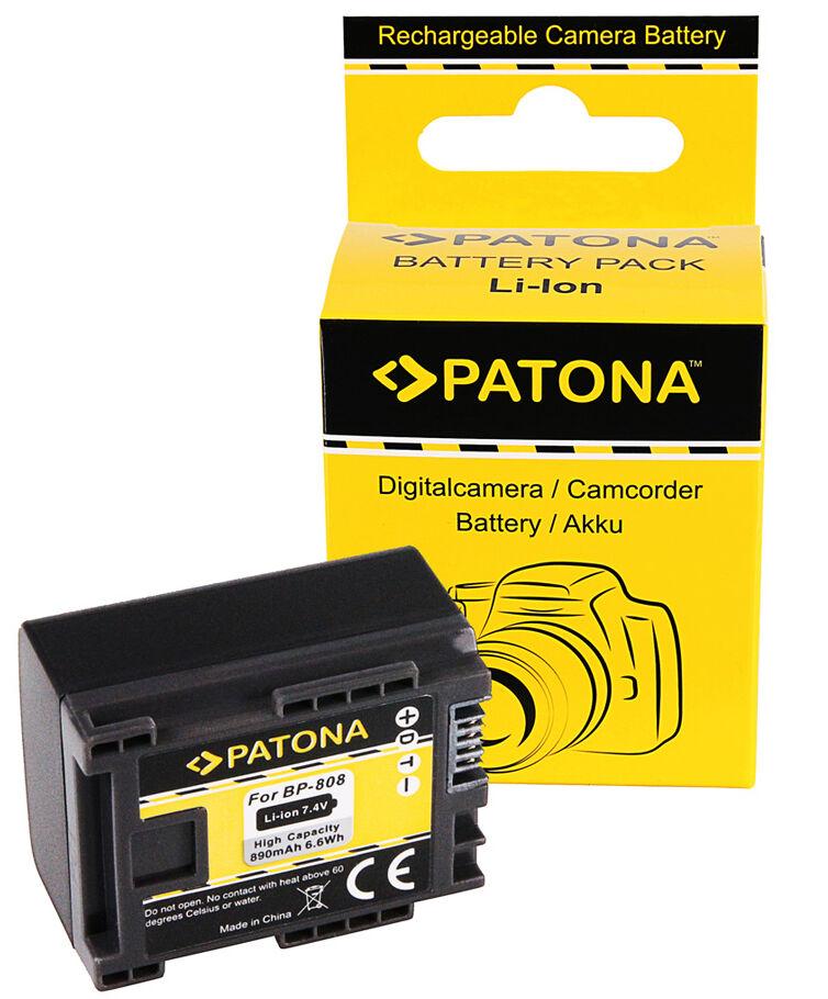 PATONA Batterie Canon BP-808 (890mAh)