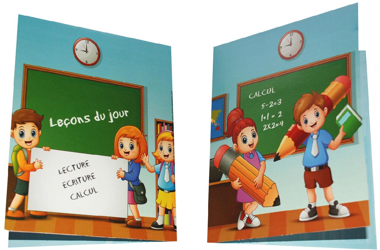 BESOIN Chemise Scolaire Biptyque Leçon du Jour 13X18cm X50