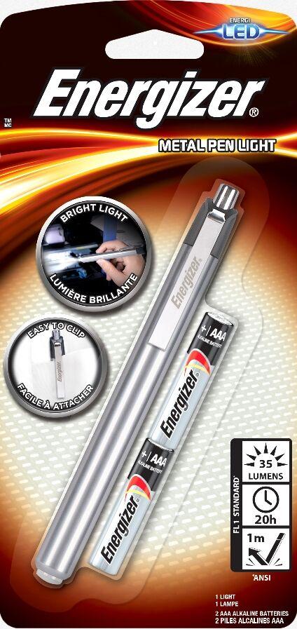 Energizer Stylo Lampe Penlite LED Metal