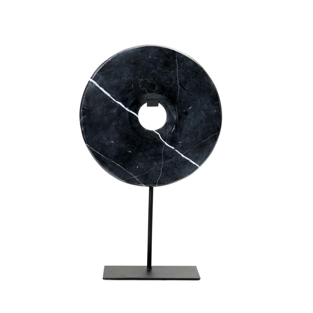 Bazar Bizar Marble Disc on stand - Statuette en marbre H40cm