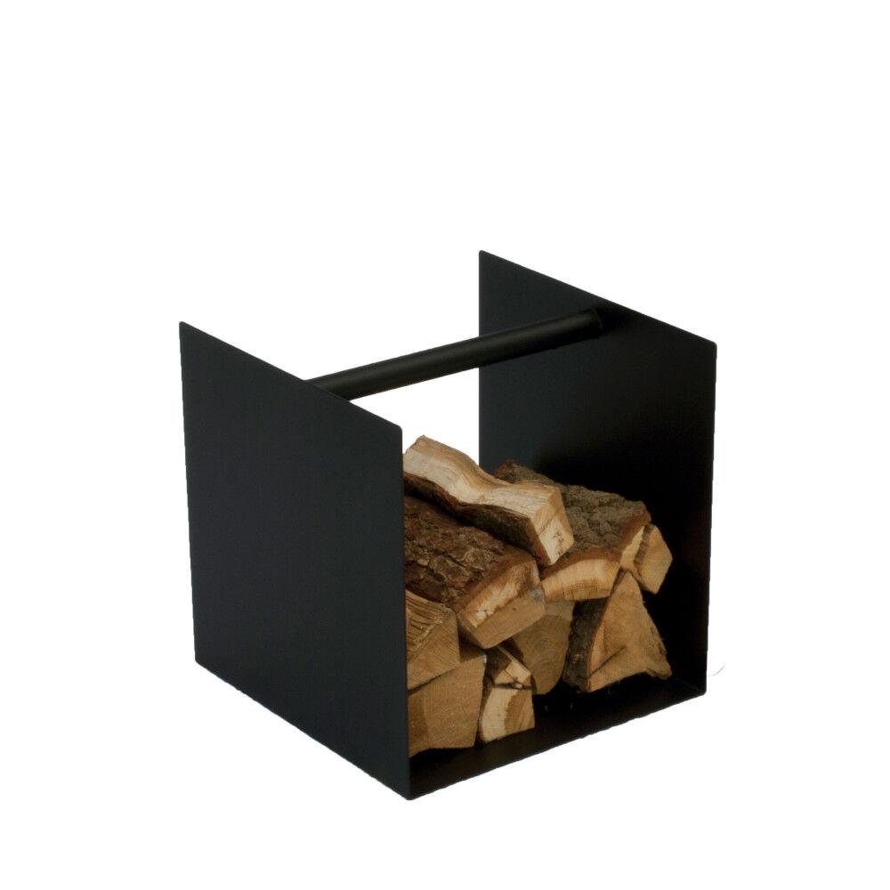 Spinder Design Box - Range bûches carré en acier - Couleur - Noir