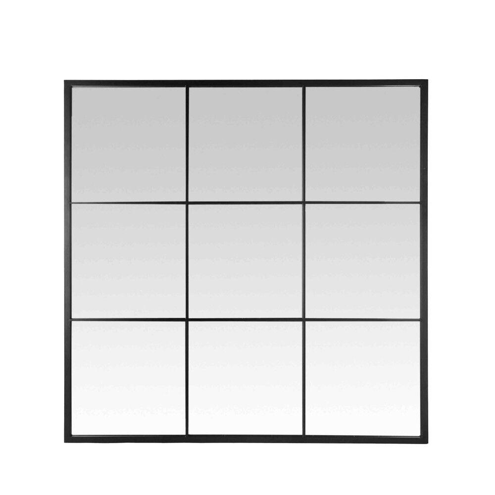 Jules - Miroir fenêtre style industriel 100x100