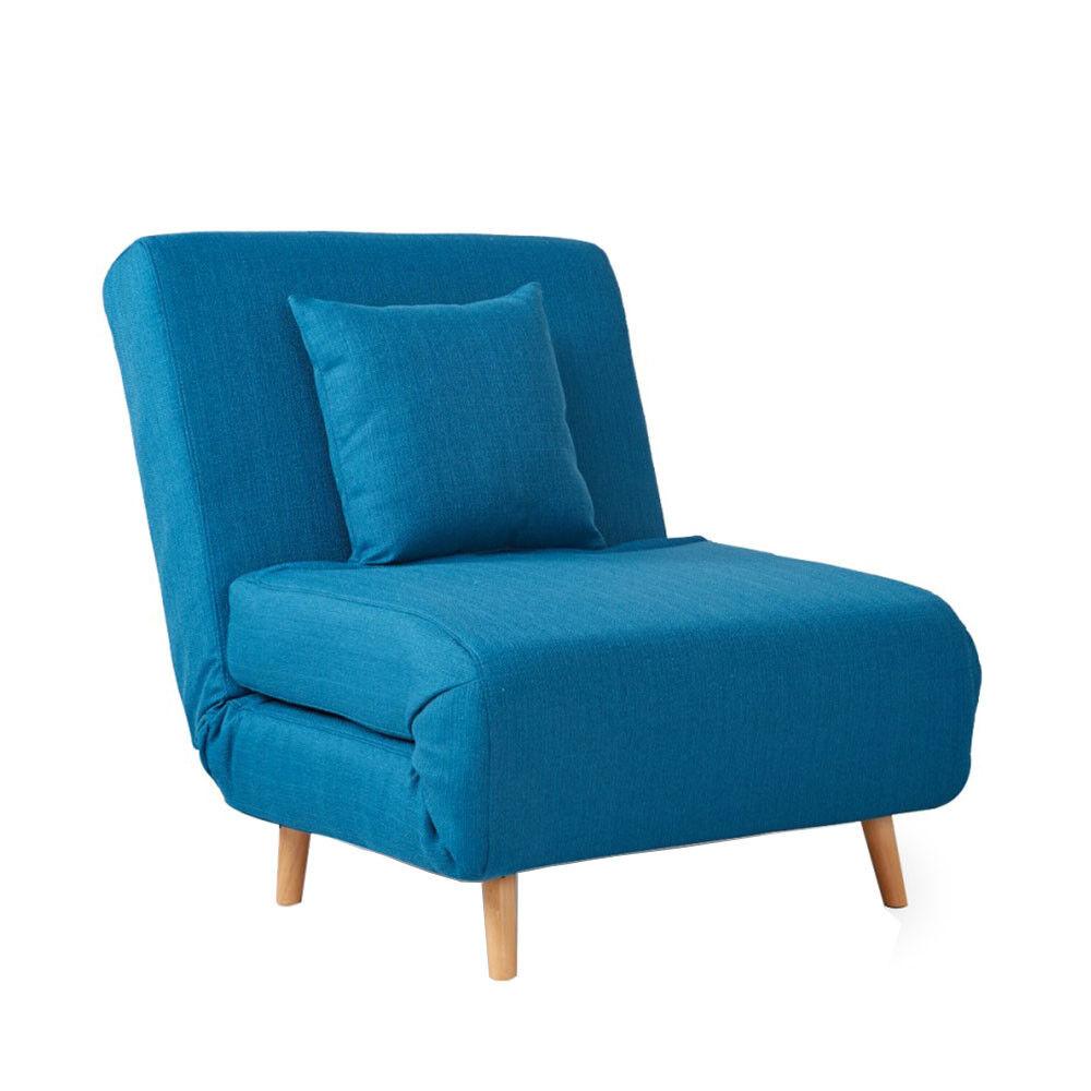 Drawer Adron - Fauteuil convertible lit 1 place - Couleur - Bleu