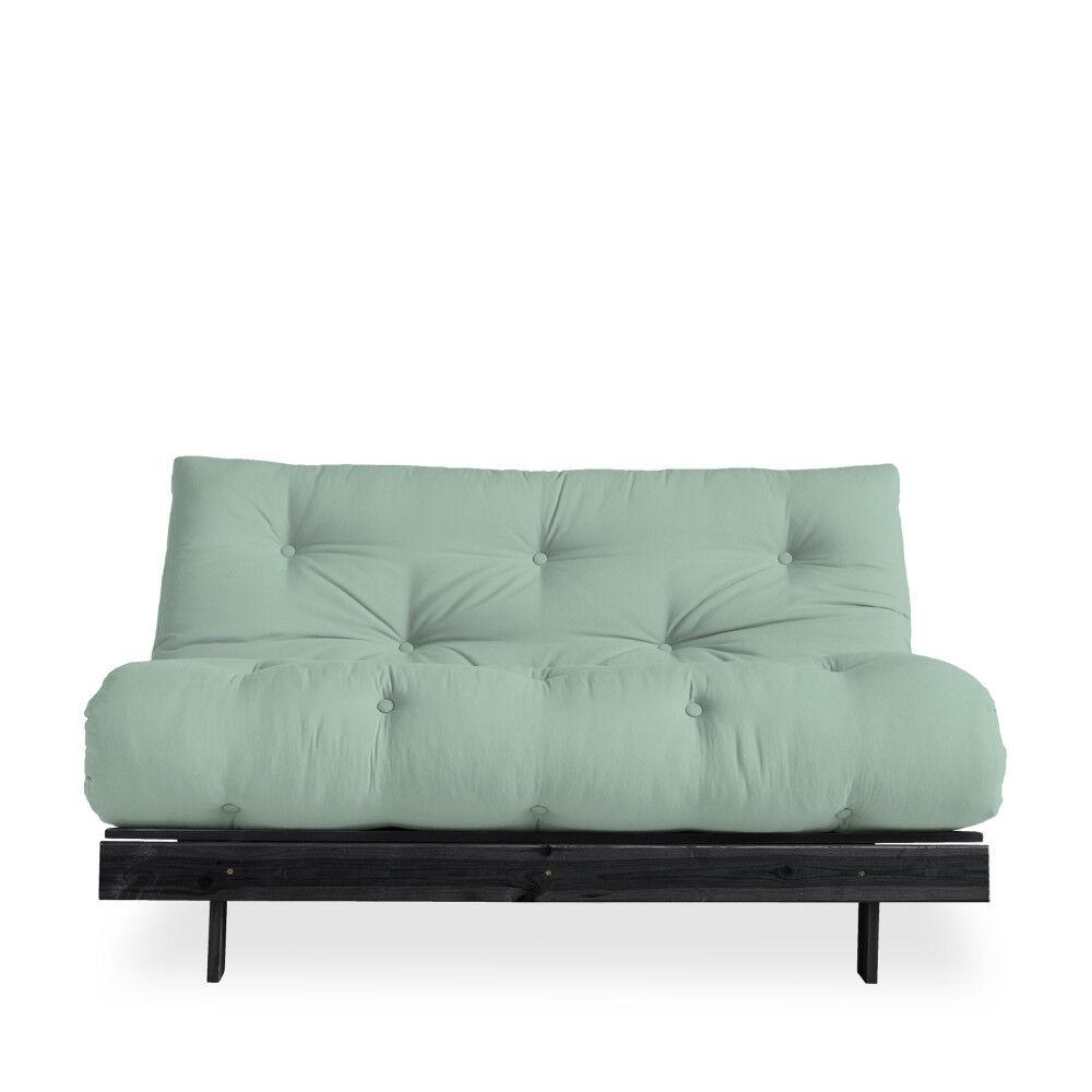 Karup Design Roots - Canapé convertible en bois noir et tissu - Couleur - vert menthe