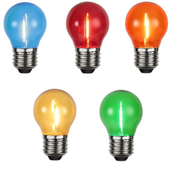 STAR Lot de 5 ampoules E27 Filament LED couleur Guinguette