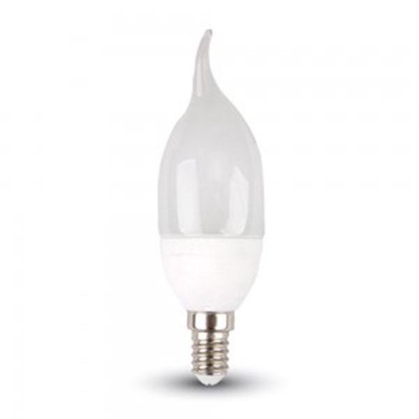 Eclairage Design Ampoule led 6W Flamme E14 rendu 45W (Température de Couleur : Blanc neutre 4000K)