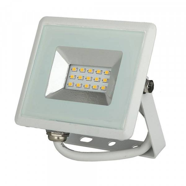 VTAC Projecteur LED Boitier blanc 10W 850 Lumens IP65