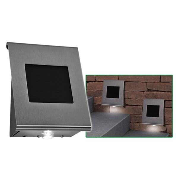 H International Applique solaire inox 2 LED