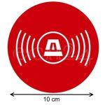 gfx  Gfx Adhésif protection alarme, cercle avec pictogramme 10 cm '-Film... par LeGuide.com Publicité