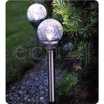best season  Best Season Set 2 lampes solaires en inox avec boules verre... par LeGuide.com Publicité