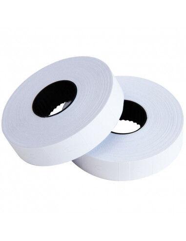 Etiquettes prix 32 x 19 Blanc Permanent - Boite de 30 rouleaux