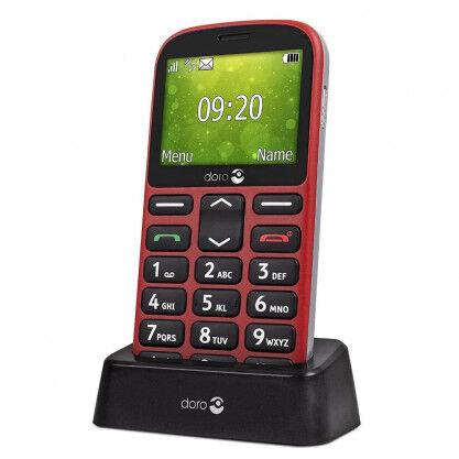 Doro 1361 téléphone mobile noir ou rouge