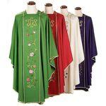 Chasuble liturgique 100% laine, IHS et roses Chasuble liturgique en 100%... par LeGuide.com Publicité
