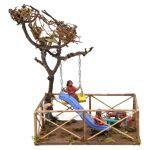 Plaine de jeux avec enfants toboggan balançoire 12 cm crèche Naples Plaine... par LeGuide.com Publicité