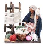 Femme qui file la laine avec chat 10 cm crèche Naples Femme qui file... par LeGuide.com Publicité