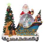 Traîneau Père Noël boule à neige mouvement lumières musique 25x30x20... par LeGuide.com Publicité