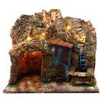 Village crèche napolitaine avec moulin à eau 45x30x40 cm santons 6-8... par LeGuide.com Publicité