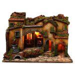 Village crèche avec arc et fontaine 60x40x45 cm santons 6-8 cm Village... par LeGuide.com Publicité