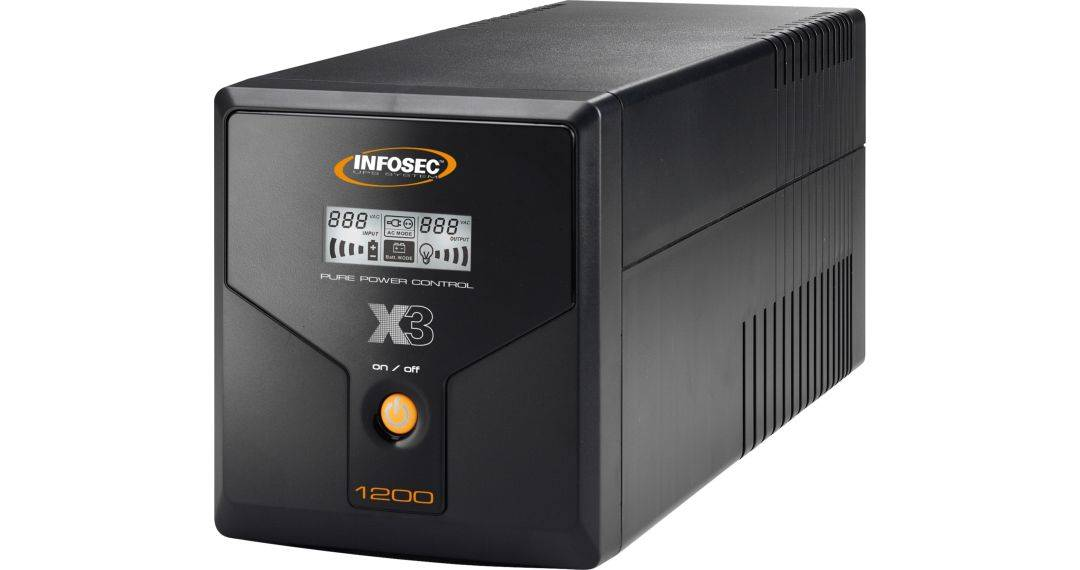 INFOSEC UPS SYSTEM Onduleur X3 EX 1200 LCD USB FR/SCHUKO - Infosec