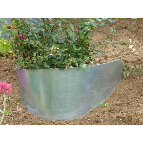 Jardin et Saisons Bordure de jardin demi-lune en acier galvanisé brut pour talus