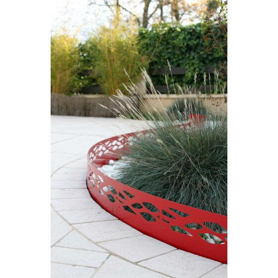 Jardin et Saisons Bordure de jardin en acier rouge rubis ajourée H 18 cm