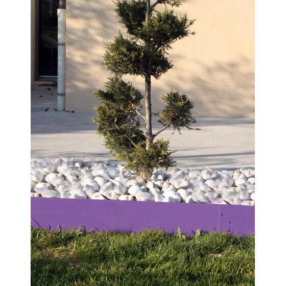Jardin et Saisons Bordure de jardin en acier lilas H 14 cm