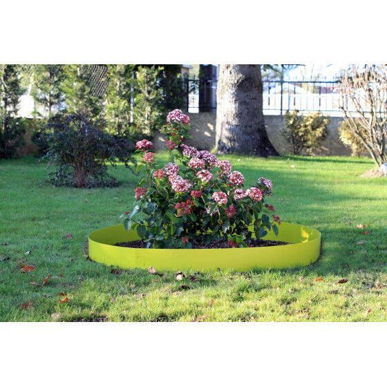 Jardin et Saisons Bordure de jardin en acier vert anis H 14 cm