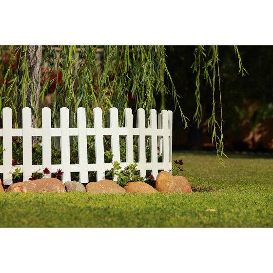 Jardin et Saisons Bordure de jardin en plastique blanc H 40 cm