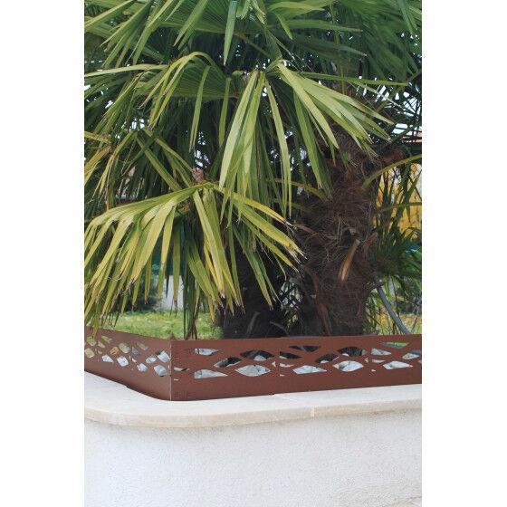 Jardin et Saisons Bordure de jardin en acier fer vieilli ajourée H 18 cm