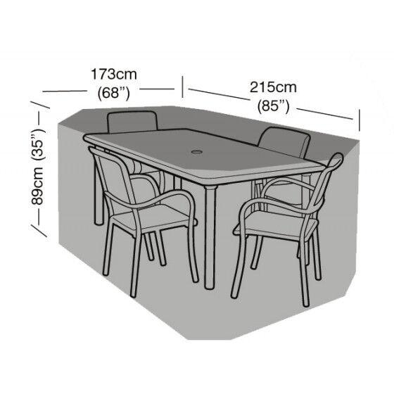 Jardin et Saisons Housse de protection table rectangulaire et 4 chaises