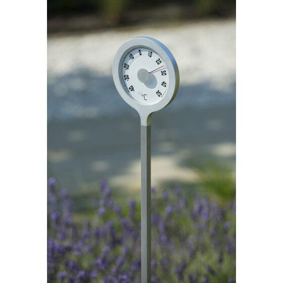 Jardin et Saisons Thermomètre de jardin à planter en métal