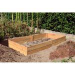 Jardin et Saisons Bac de permaculture en bois douglas naturel 1,30 x... par LeGuide.com Publicité