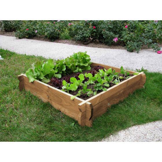 Jardin et Saisons Carré potager en bois non traité H 22 cm