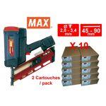 max  Max Lot Cloueur gaz MAX GS690 CH avec 10 packs 3.1x70 Acier Lot incluant... par LeGuide.com Publicité