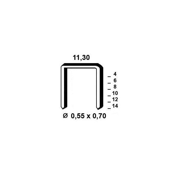 Silverline Agrafes type 53 - 8mm Galva - Boite de 5000