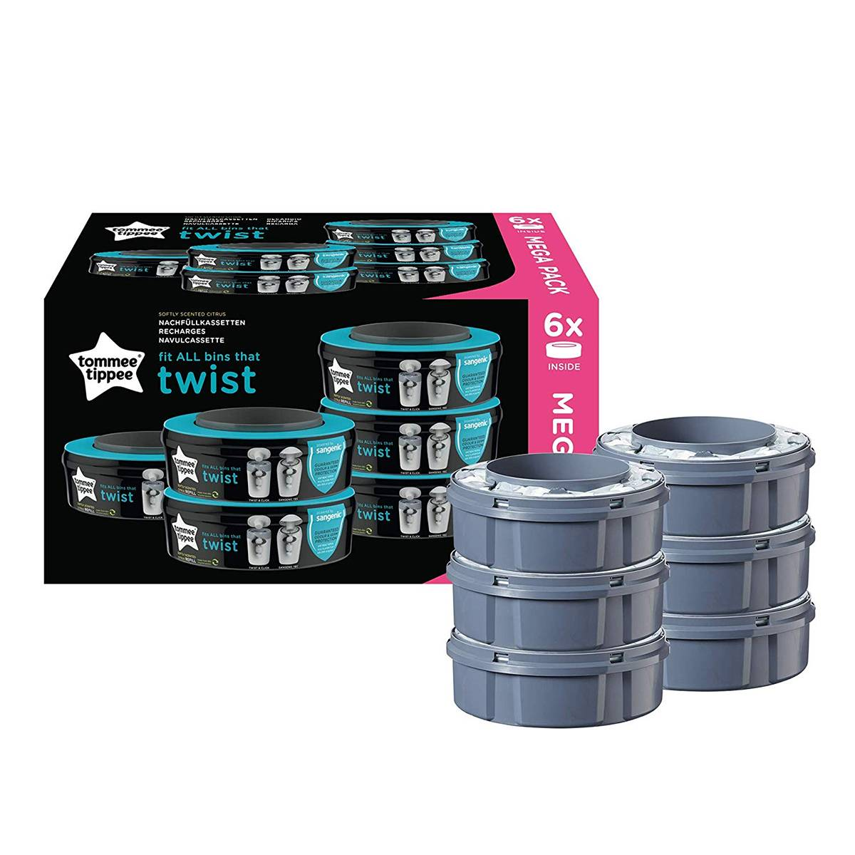 Tommee Tippee Lot de 6 Recharges Twist & Click