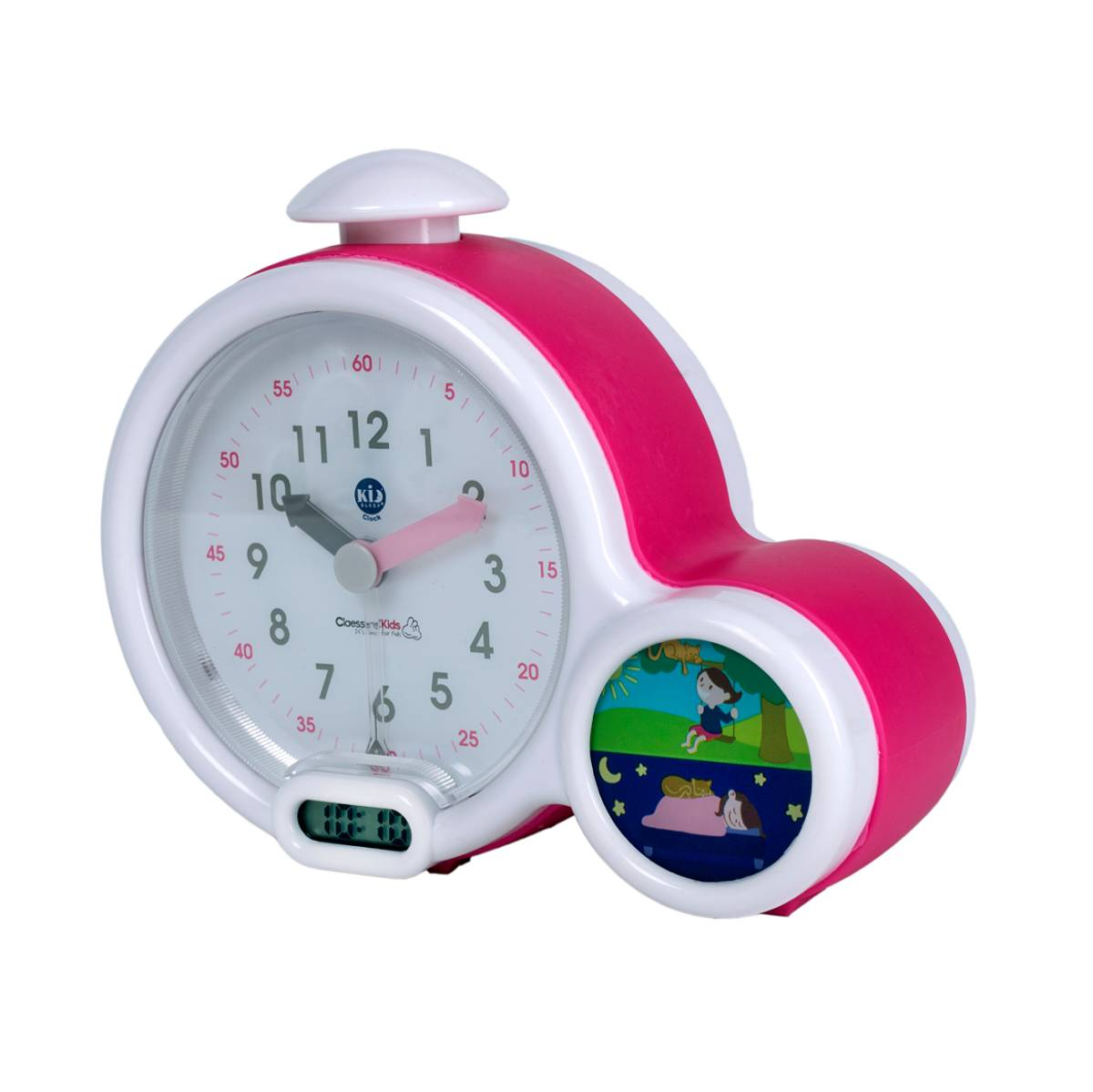 Claessens'Kids Kid'Sleep Clock Rose - Mon premier réveil