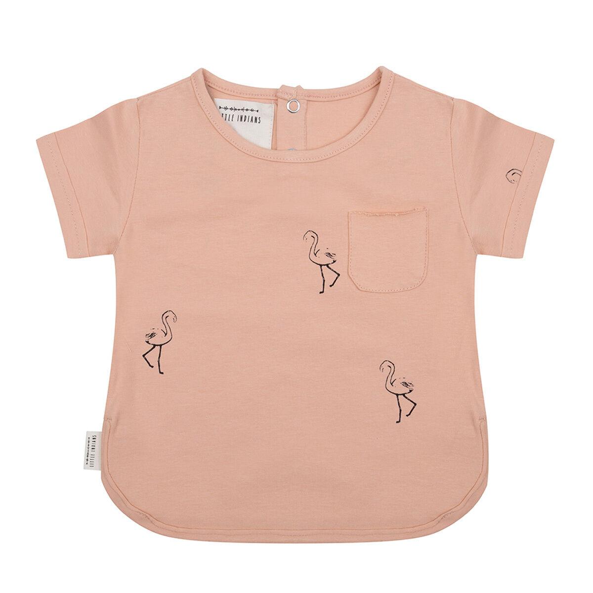 Little Indians T-Shirt Flamingo Corail - 3/6 Mois