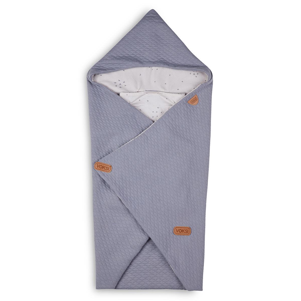Voksi Couverture Baby Wrap - Light Grey Star