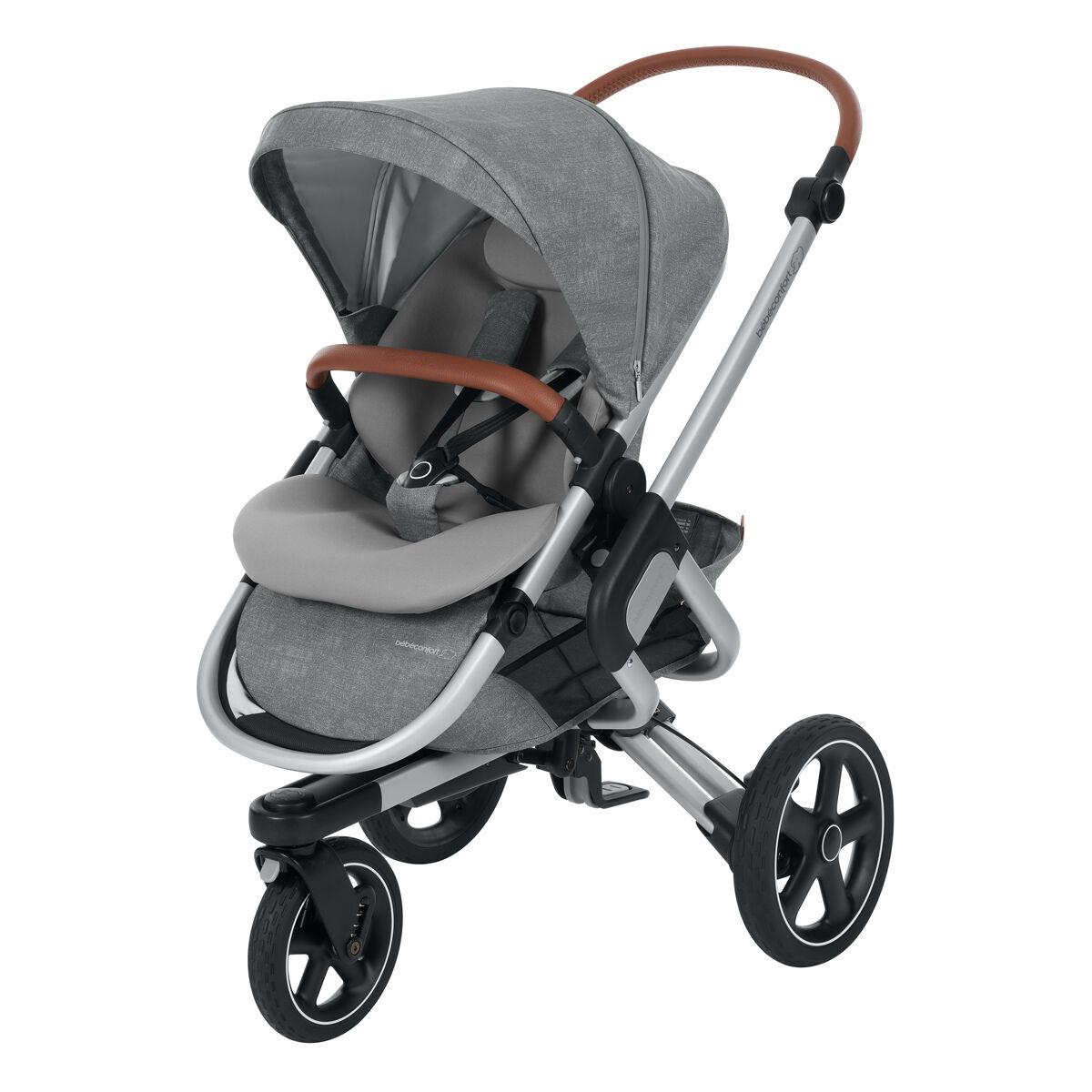 Bébé Confort Poussette de Naissance Nova 3 Roues - Nomad Grey