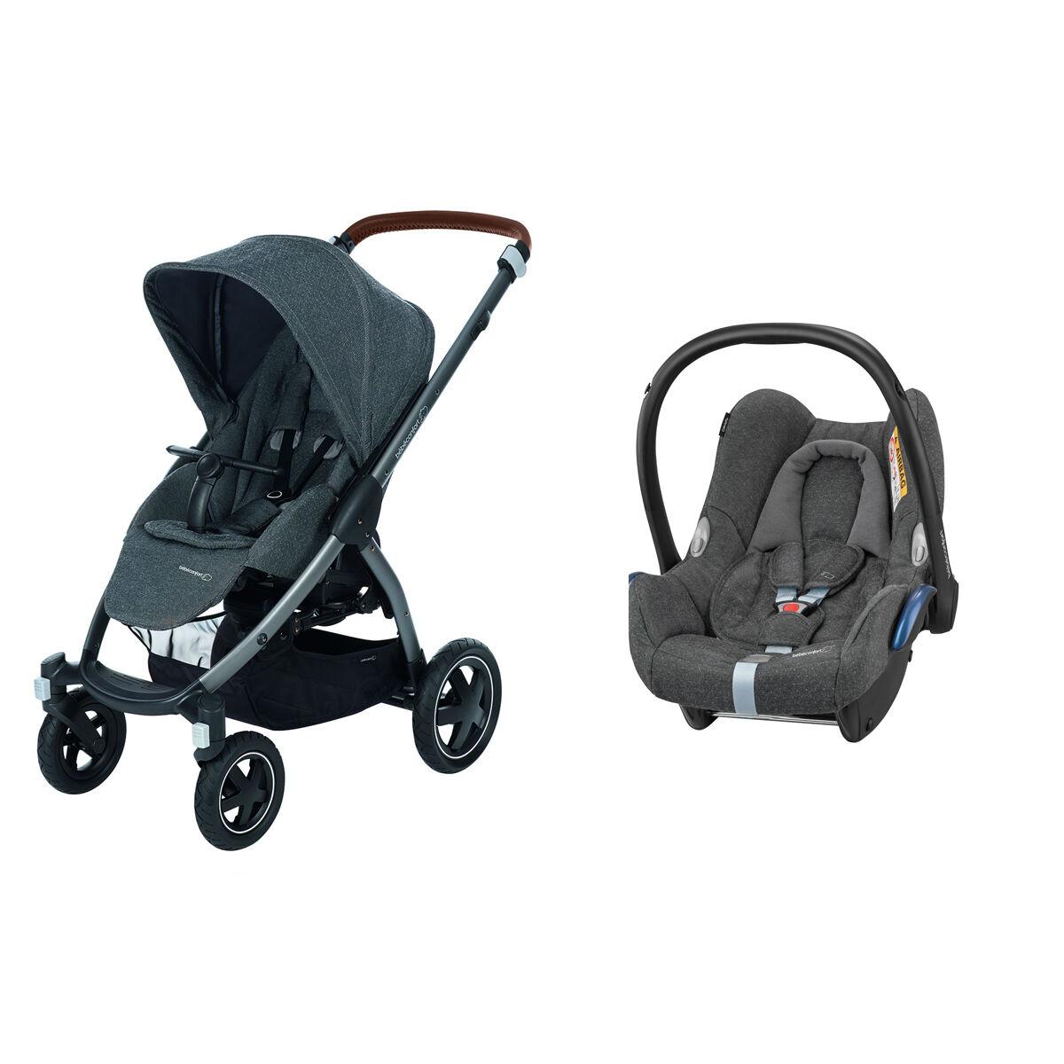 Bébé Confort Poussette Duo Stella et Siège Auto CabrioFix - Sparkling Grey