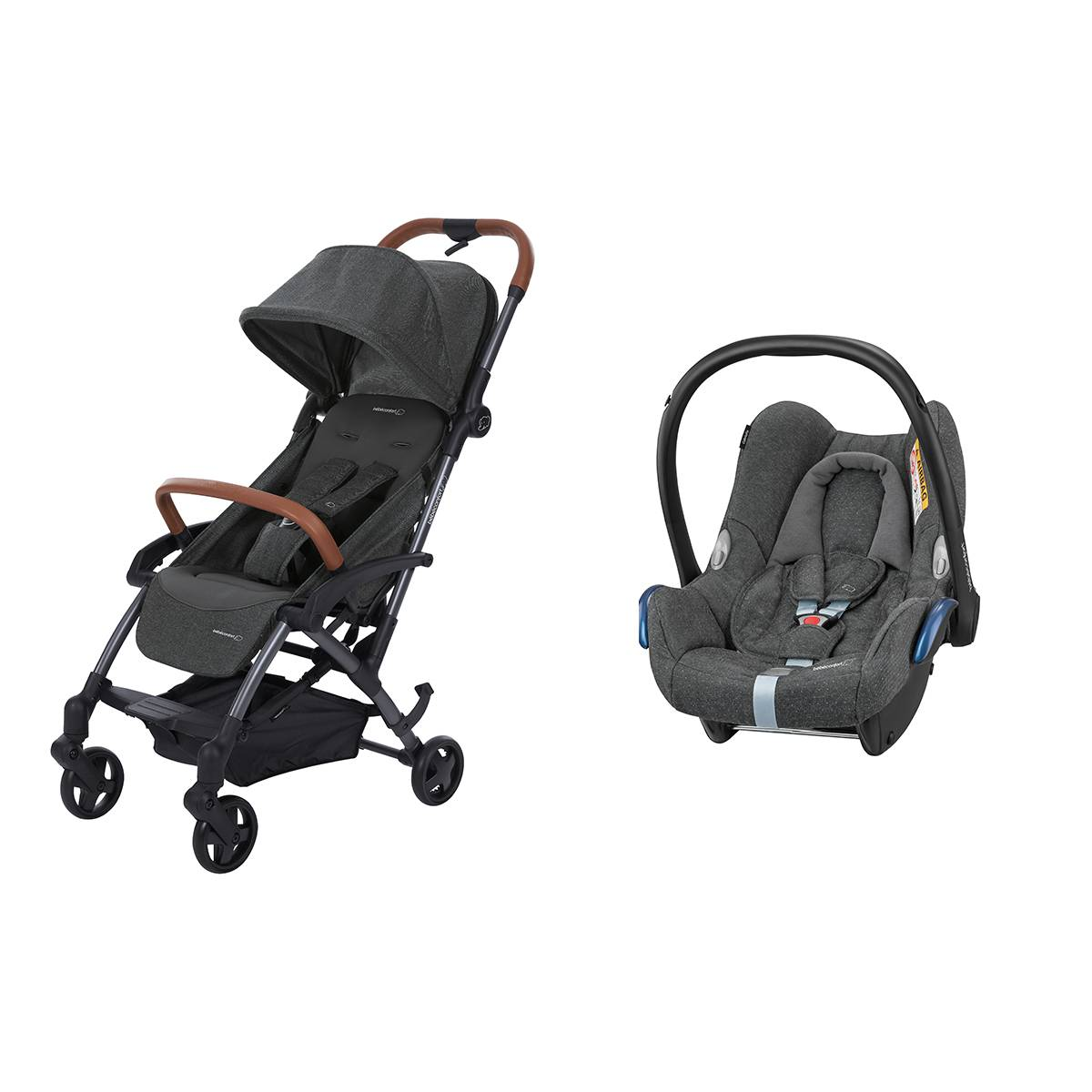 Bébé Confort Poussette Duo Laïka 2 et Siège Auto CabrioFix - Sparkling Grey