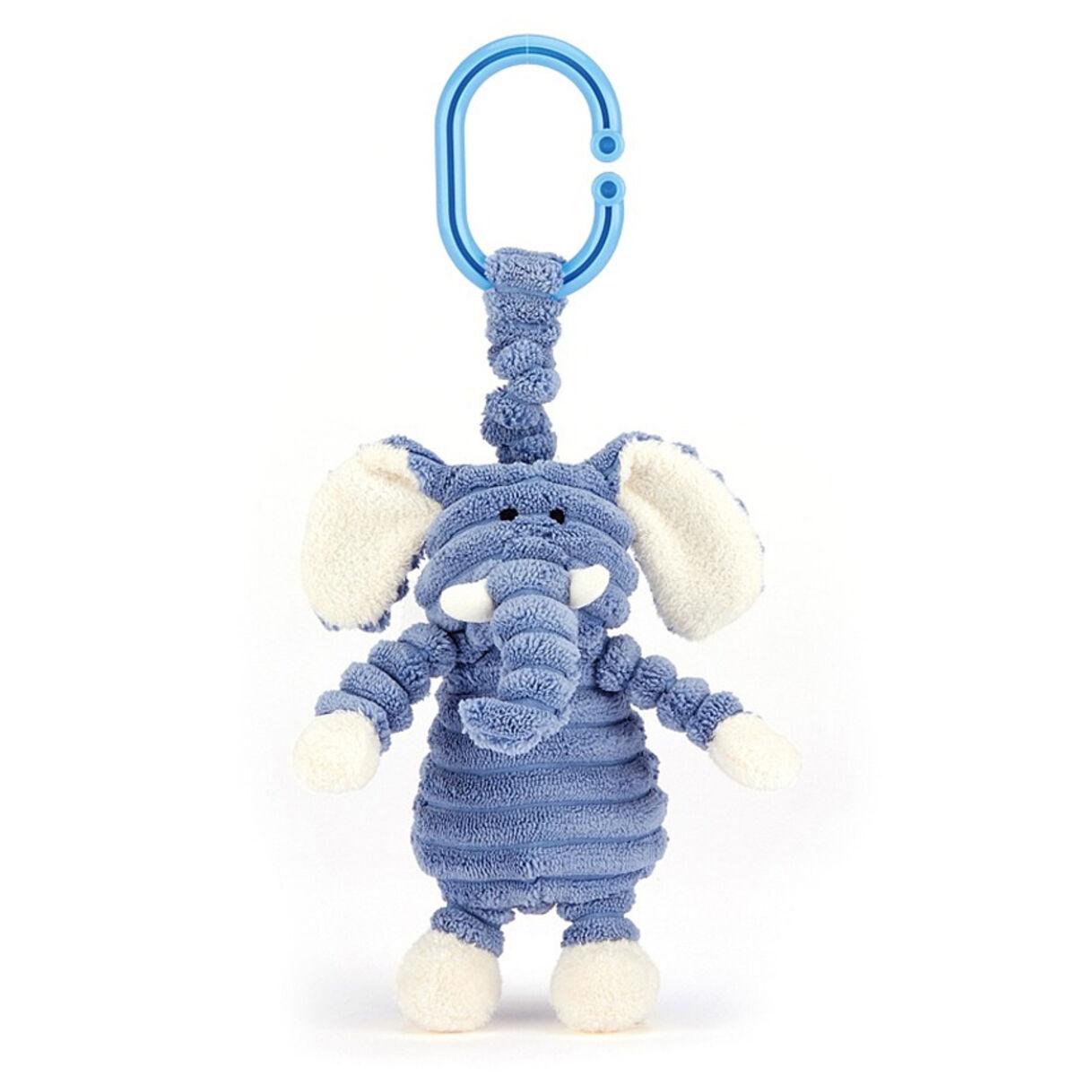 Little Jellycat Jouet de Poussette Cordy Roy Baby Elephant Jitter