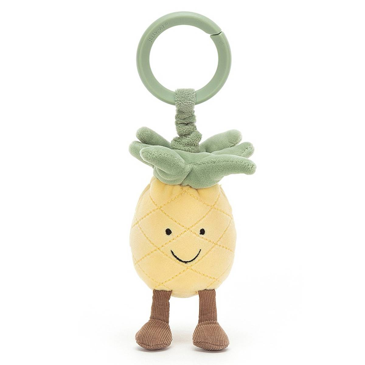 Little Jellycat Jouet de Poussette Amuseable Pineapple Jitter