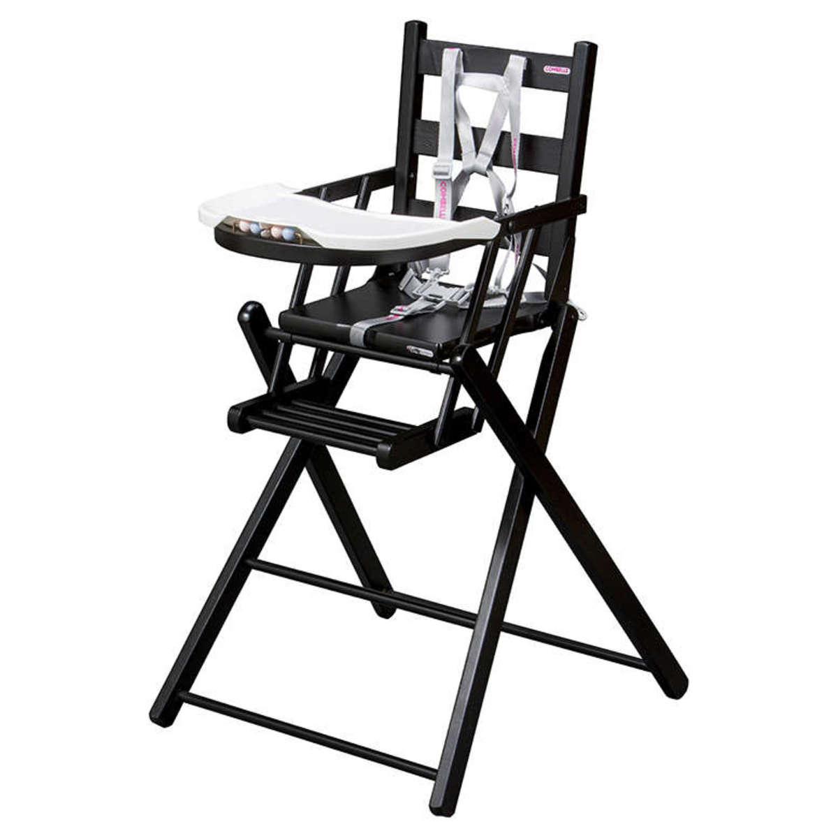 Combelle Chaise Haute Extra-Pliante Sarah - Noir