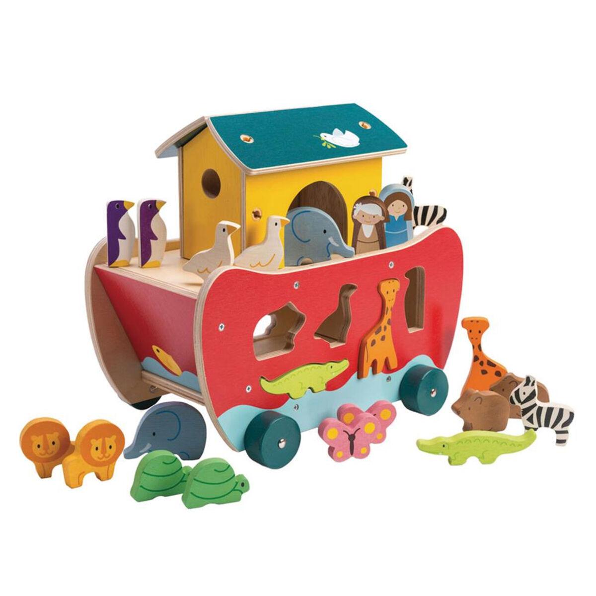 Tender Leaf Toys Boîte à Formes Arche de Noé