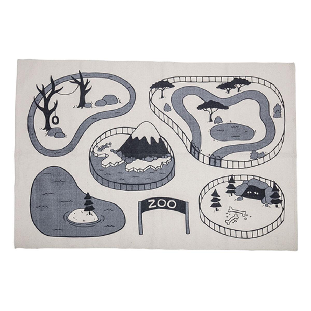 Bloomingville Tapis Circuit Zoo Gris - 100 x 150 cm