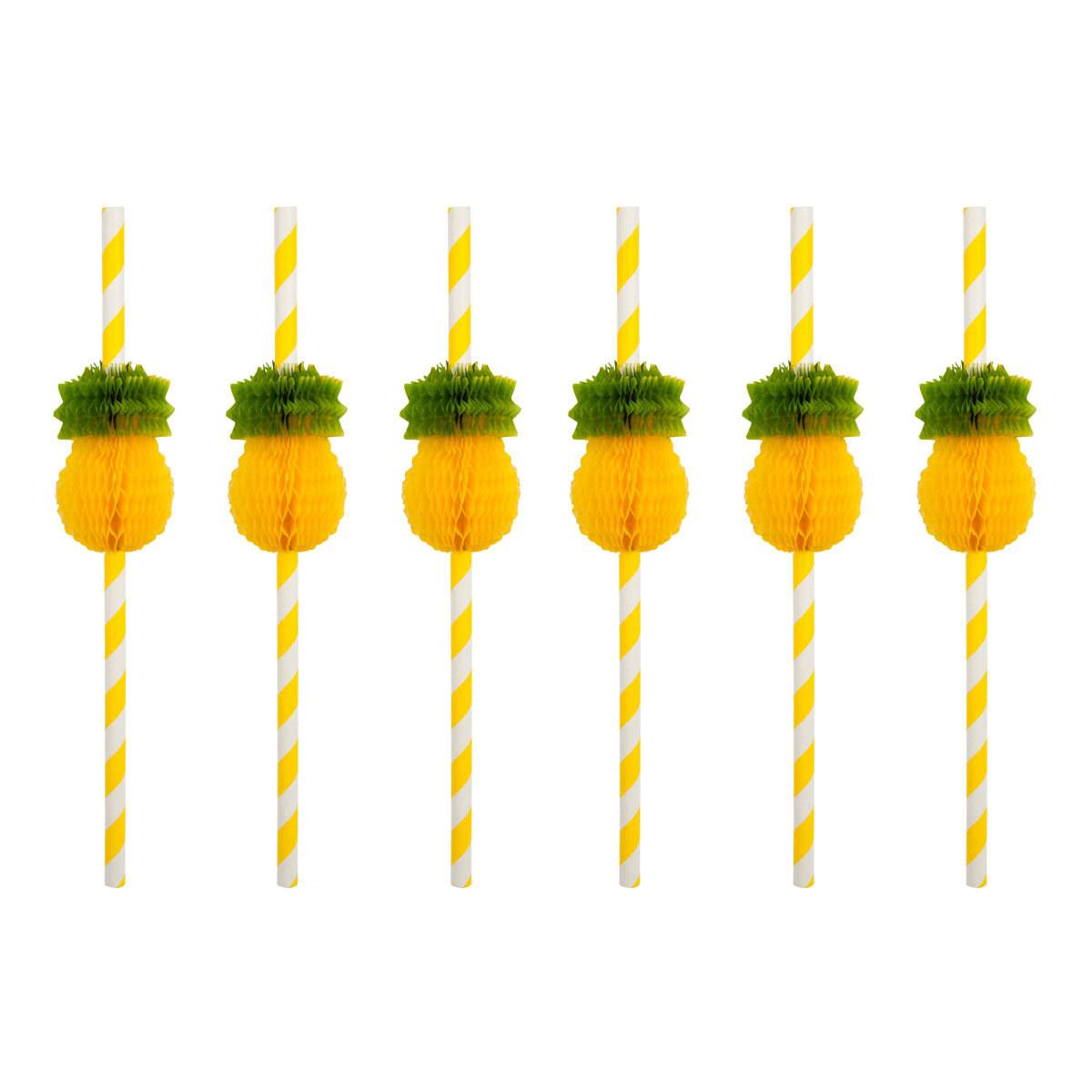 Sunnylife Lot de 12 pailles Ananas